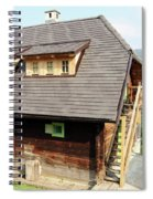 Old Wooden House On Mountain Spiral Notebook