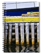 Old Wooden Pier In Newfoundland Spiral Notebook