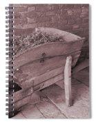 Old Wooden Wheelbarrow Spiral Notebook