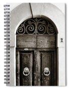 Old World Door Spiral Notebook