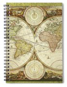 Old World Map On Gold Spiral Notebook