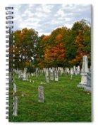 Old Yard Cemetery Stowe Vermont Spiral Notebook