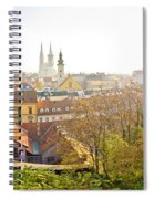 Old Zagreb Panorama In Morning Fog Spiral Notebook