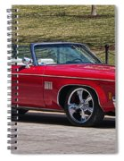 Oldsmobile Delta Royale 88 Red Convertible Spiral Notebook