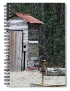 Oldtime Outhouse - Digital Art Spiral Notebook