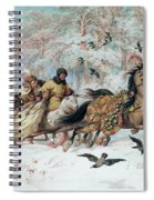 Olenka And Kmicic In A Sleigh, 1885 Spiral Notebook