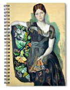 Olga In An Armchair Spiral Notebook