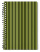 Olive Green Striped Pattern Design Spiral Notebook
