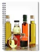Olive Oil,salad Dressing And Vinegar Spiral Notebook