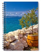 Olive Tree In Barrel By The Sea Spiral Notebook