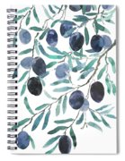 Olive Watercolor 2018 Spiral Notebook