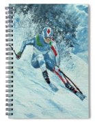 Olympic Downhill Skier Spiral Notebook