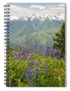 Olympic Mountain Wildflowers Spiral Notebook