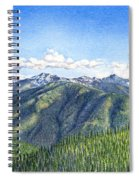 Olympic Mountains Spiral Notebook