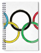 Olympic Rings Pencil Spiral Notebook