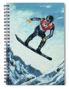Olympic Snowboarder Spiral Notebook