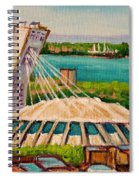 Olympic Stadium  Montreal Spiral Notebook