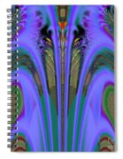 Olympic Torch And Fireworks Fractal 162 Spiral Notebook