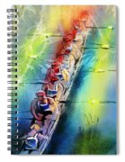 Olympics Rowing 02 Spiral Notebook