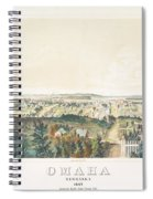 Omaha, Nebraska Looking North From Forest Hill 1867 Spiral Notebook