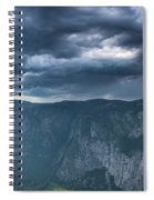 Ominous Clouds Over Glacier Point Spiral Notebook