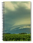 Ominous Nebraska Outflow 001 Spiral Notebook
