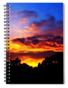 Ominous Sunset Spiral Notebook