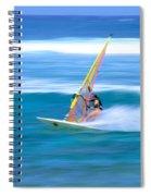 On A Calm Blue Ocean Spiral Notebook