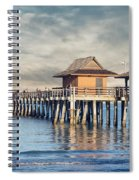 On A Cloudy Day At Naples Pier Spiral Notebook