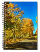 On A Country Road 4 - Paint Spiral Notebook