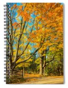 On A Country Road 5 - Paint Spiral Notebook