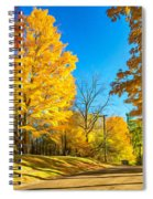 On A Country Road 6 - Paint Spiral Notebook