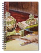 On A Desk At Eugene O Neill Tao House Spiral Notebook