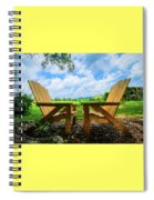 On A Pretty Summer Day Oil Painting Spiral Notebook