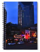 On Broadway In Nashville Spiral Notebook