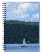 On Cayuga Lake Spiral Notebook