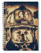 On Duty And Into Fire_dramatic Spiral Notebook