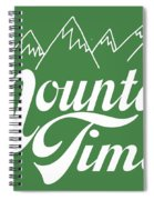 On Mountain Time Spiral Notebook