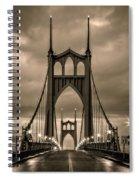 On St Johns Bridge Spiral Notebook