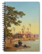 On The Banks Of The Nile Spiral Notebook