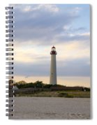 On The Beach At Cape May Lighthouse Spiral Notebook