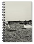 On The Beach - Avalon New Jersey In Sepia Spiral Notebook