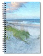 On The Beach Watercolor Spiral Notebook