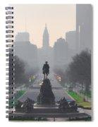 On The Benjamin Franklin Parkway Spiral Notebook