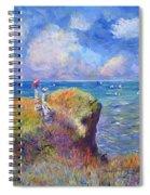 On The Bluff At Pourville - Sur Les Traces De Monet Spiral Notebook
