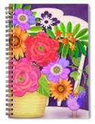 On The Bright Side - Flowers Of Faith Spiral Notebook