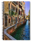 On The Canal-venice Spiral Notebook