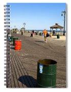 On The Coney Island Boardwalk Spiral Notebook