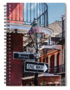 On The Corner Of Royal Street Spiral Notebook
