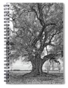 On The Delta Monochrome Spiral Notebook